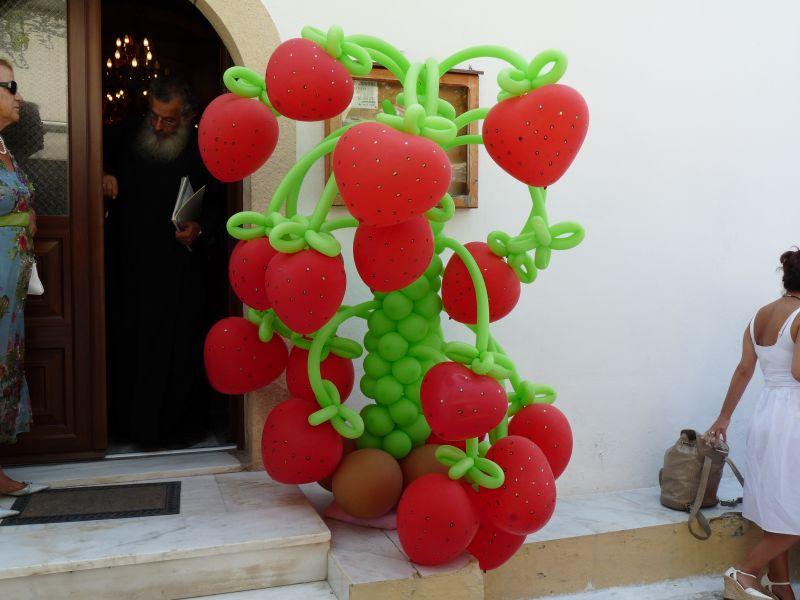 μπαλόνια- φράουλες-φραουλιά-Δέντρο