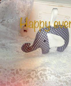 Πάνινο ελεφαντάκι ιδανικό για μπομπονιέρα και δωράκι γενεθλίων